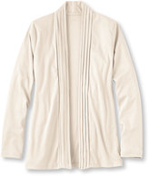 L.L. Bean Women's Pima Cotton Pin-Tucked Open Cardigan