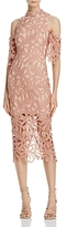 Elliatt Sight Cold-Shoulder Lace Dress