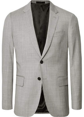 Paul Smith Light-Grey Soho Slim-Fit Melange Wool Suit Jacket