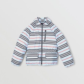Burberry Childrens Icon Stripe Down-filled Jacket