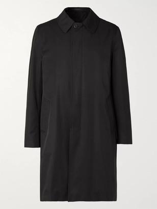 The Row Thomas Tech-Cotton Overcoat - Men - Black