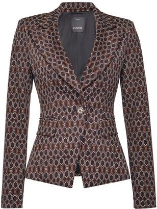 Pinko Geometric Print Blazer Jacket