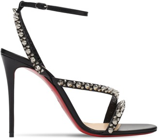 Christian Louboutin 100mm Mafaldina Studded Leather Sandals