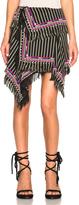 Isabel Marant Raffi Embroidered Stripe Skirt