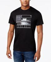 HUGO BOSS Green Men's Graphic Print Cotton T-Shirt