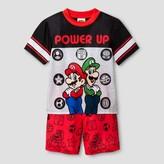 Mario Boys' Mario & Luigi Pajama Set - Black