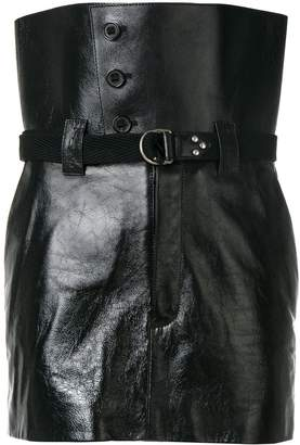 Saint Laurent high-waisted mini skirt