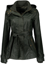 Maverick Olive Snap-Front Hooded Coat