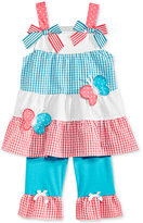 Nannette 2-Pc. Seersucker Butterfly Tunic & Capri Leggings Set, Baby Girls (0-24 months)
