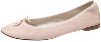 Repetto Light Pink Leather Bow Embellished Ballet Flats Size 42