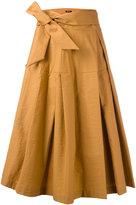 Jil Sander Navy wrap skirt