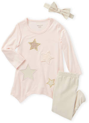 Mikey & Lottie (Infant/Toddler Girls) 3-Piece Star Long Sleeve Top & Leggings Set