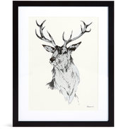 Marks and Spencer Valiant Silver Stag Wall Art