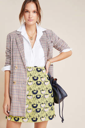 Loren Hutch Embroidered Mini Skirt