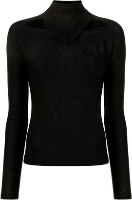 REJINA PYO Maia knotted cut-out top