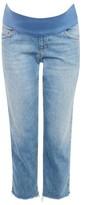 Topshop MATERNITY Raw Hem Straight Leg Jeans