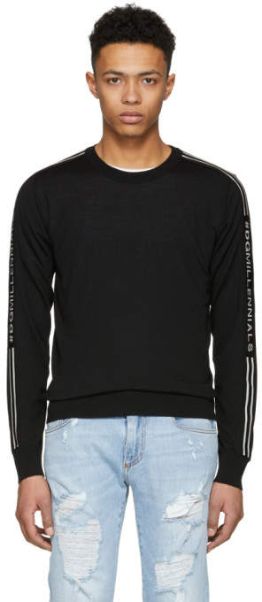 Dolce & Gabbana Black DGMillennials Logo Band Sweater