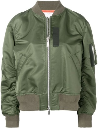 Sacai sleeve pocket bomber jacket