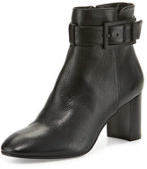 Aquatalia by Marvin K Vanie Leather Ankle-Strap Boot, Black
