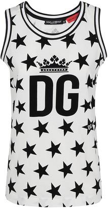 Dolce & Gabbana Star Logo Tank Top