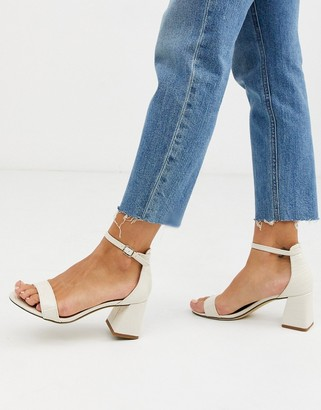 New Look low block heel in off white