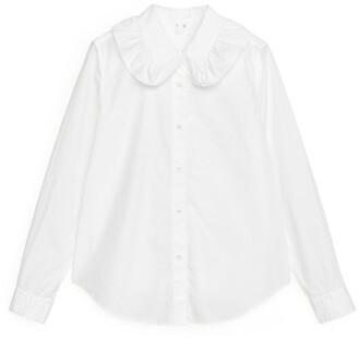 Arket Frill Collar Poplin Shirt