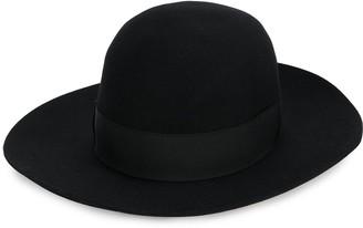 Borsalino Bow Detail Fedora Hat