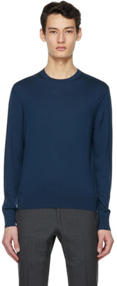 Tom Ford Blue Fine Merino Sweater