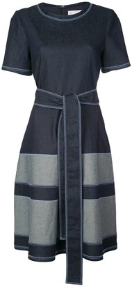 Carolina Herrera Belted Denim Shift Dress