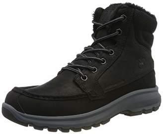 Helly Hansen Men's Garibaldi V3 Waterproof Winter Snow Boot Warm with Grip, Jet Black/Charcoal/Black, 8