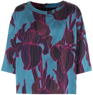 Dries Van Noten Floral satin top