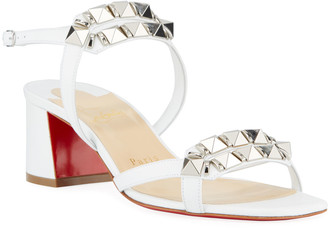 Christian Louboutin Galerietta 55mm Leather Red Sole Sandals