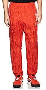adidas by Alexander Wang Men's Crinkled Tech-Fabric Tear-Away Track Pants - Red