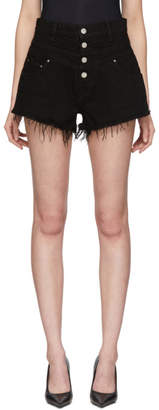 Amiri Black Denim High-Waisted Shorts