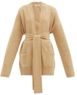 Extreme Cashmere No.154 Care Belted Stretch-cashmere Cardigan - Camel