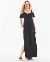 Soma Intimates Soft Jersey Flounce Cold Shoulder Maxi Dress RG