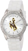 Game Time Women's COL-FRO-WYO Frost College Series Collegiate 3-Hand Analog Watch