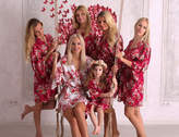 Etsy Set of 6 Bridesmaid Robes, Bridesmaid Cotton Robes, Fast Shipping from New York, Kimono Robe, Regula