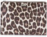 Stella McCartney leopard print clutch bag
