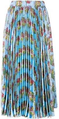 La DoubleJ Athena pleated midi skirt