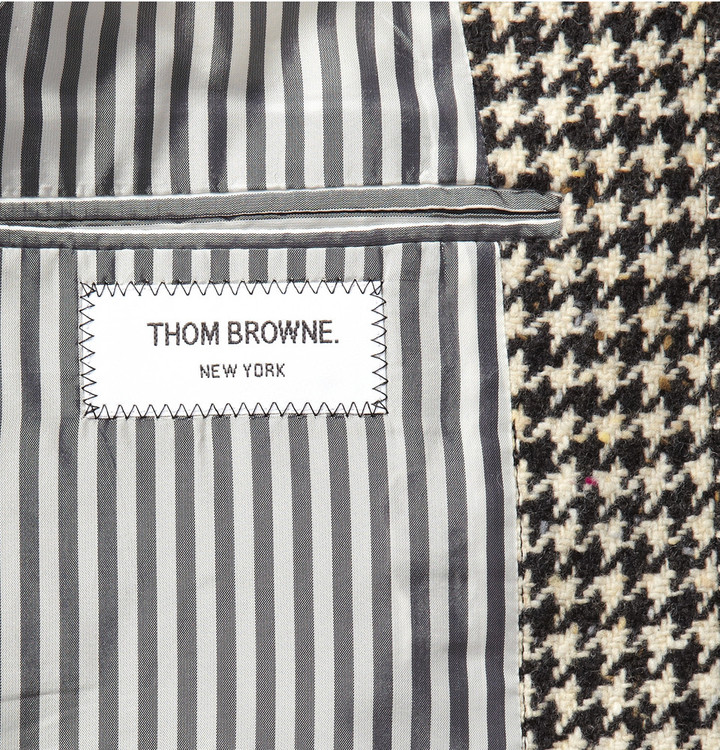 Thom Browne Houndstooth Donegal Coat
