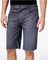 Lrg Men's Monochrome Straight-Fit Cutoff Denim Shorts