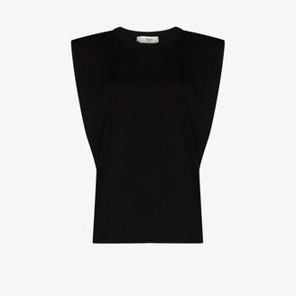 Frankie Shop Eva padded cotton T-shirt