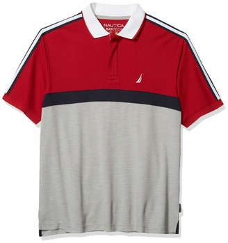 Nautica Men's Tall Navtech Short Sleeve Colorblock Polo Shirt