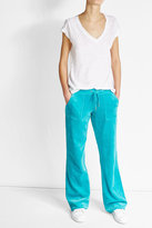 Juicy Couture Straight Leg Velour Track Pants