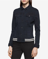 Calvin Klein Jeans Ribbed Denim Trucker Jacket