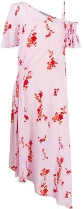 Preen Line cold shoulder floral print dress