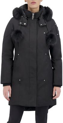 Moose Knuckles Stirling Hooded Parka Jacket w/ Fur Collar