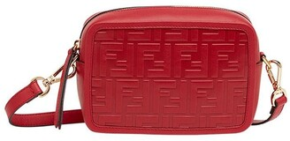 Fendi red Mini Camera Case cross body bag