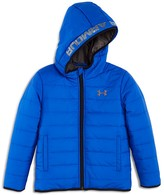 Under Armour Boys' Fleece Lined Hooded Puffer Jacket - Sizes 4-7
